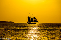 Key West Sailboat Sunset