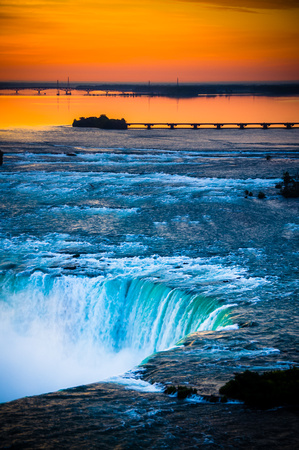 Horseshoe Falls Sunset